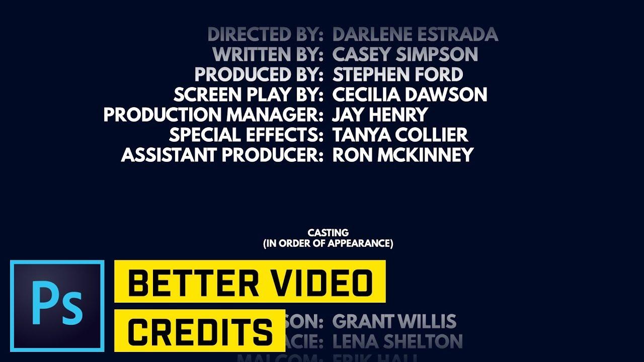 Movie Text End Credits Photoshop CC Tutorial