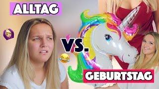 Normaler ALLTAG VS. GEBURTSTAG | MORGENROUTINE | Annaxo