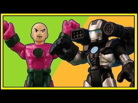 PlaySkool Heroes 4 in 1 Helicarrier - War Machine and Ironman attack the Avengers! @ OzToyReviews