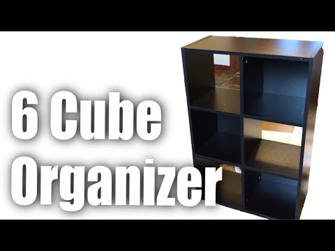 Giantex Black 6-Cube Organizer Storage Shelf Bookcase Setup and Review