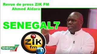 Revue de presse (Wolof) Zik Fm du Jeudi 05 Décembre 2019 avec Ahmed Aidara