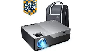 "LED Projector, 4000 Lux HDMI Projector with 300""Display Compatible TV Stick, HDMI, VGA, USB"