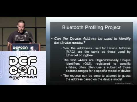 DEF CON 18 - JP Dunning - Breaking Bluetooth by Being Bored