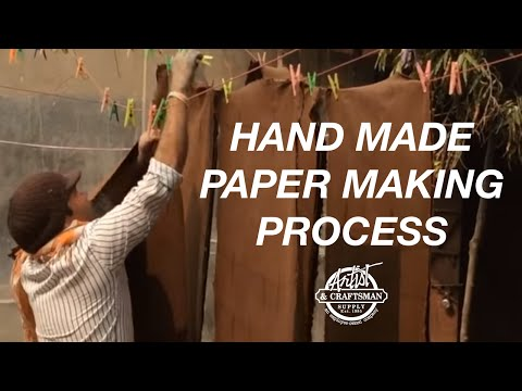 SHIZEN DESIGN - Handmade Paper Making Process - Artist & Craftsman Supply