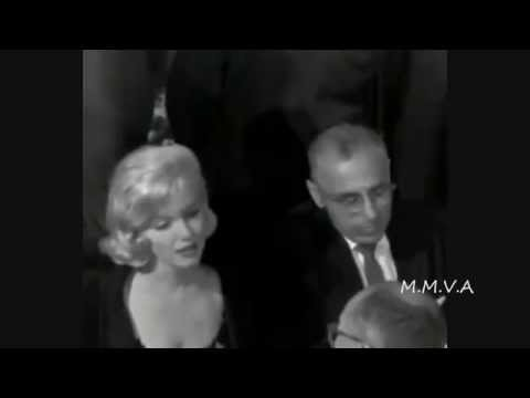 Rare footage and interview of Marilyn Monroe attending Fox Studios for Khrushchev luncheon 1959