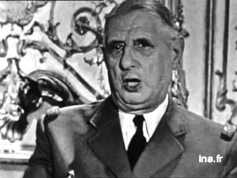 ALLOCUTION DU GENERAL DE GAULLE , putsch des généraux.