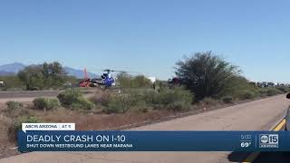 DPS investigating deadly crash on I-10 westbound between Phoenix and Tucson