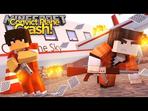 Minecraft Adventure - CONVICT PLANE CRASH, CAPTAIN AMERICA GETS SHOT!!