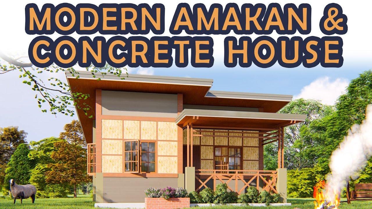 Low Budget House Modern Half Amakan Concrete House Youtube In 2020 Concrete House Low Budget House Tropical House Design
