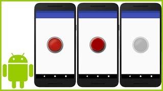 كيفية إنشاء زر مخصص (مع الصور) في Android Studio
