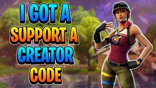 I GOT A SUPPORT A CREATOR CODE!! (Fortnite: Battle Royale Gameplay)