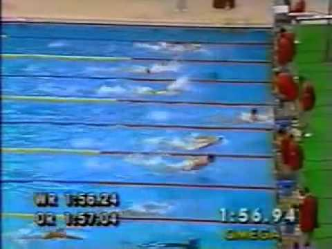1988 Olympic Men's 200m Butterfly final   Michael Gross.wmv