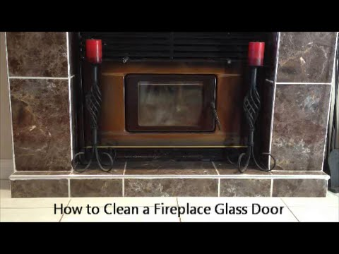 How To Clean A Fireplace Glass Door Youtube