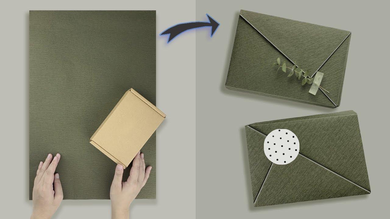 Gift Wrapping   日本百貨商店禮物包裝教學—對角線包禮物(旋轉包裝禮物) - YouTube