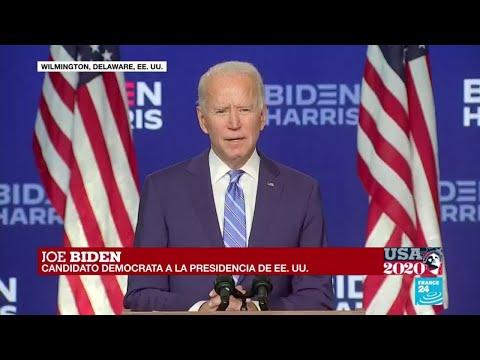 """Joe Biden: """"No estoy aquí para declarar que ganamos"""""""