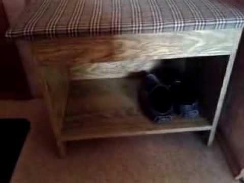 видео: самодельная тумбочка для обуви