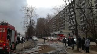 Пожар в Москве. Щёлковское шоссе 79к1