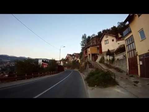 Prolazak putem sarajevske obilaznice (bivse uskotracne pruge) po danu (Bistrik - Alifakovac).mp4