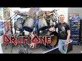 Visiting Nicko McBrain's Drum One (Vlog) | David Winter