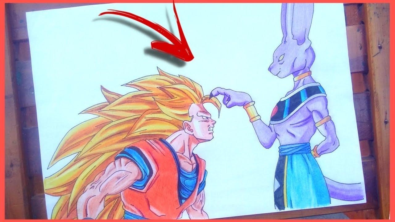 Como Desenhar O Goku Ssj3 Vs Bills Peteleco Em Dragonbal Super