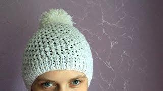 Как связать шапочку (шапку) спицами для взрослого