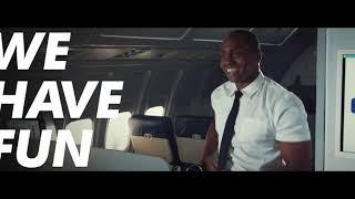Flight Attendant Macarena Dance | Featuring Marcus Majors