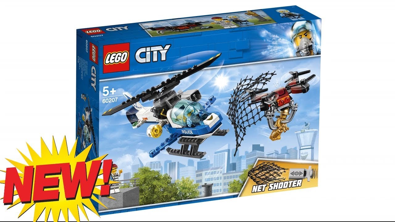Lego City Sky Police Drone Chase 60207 2019 Youtube