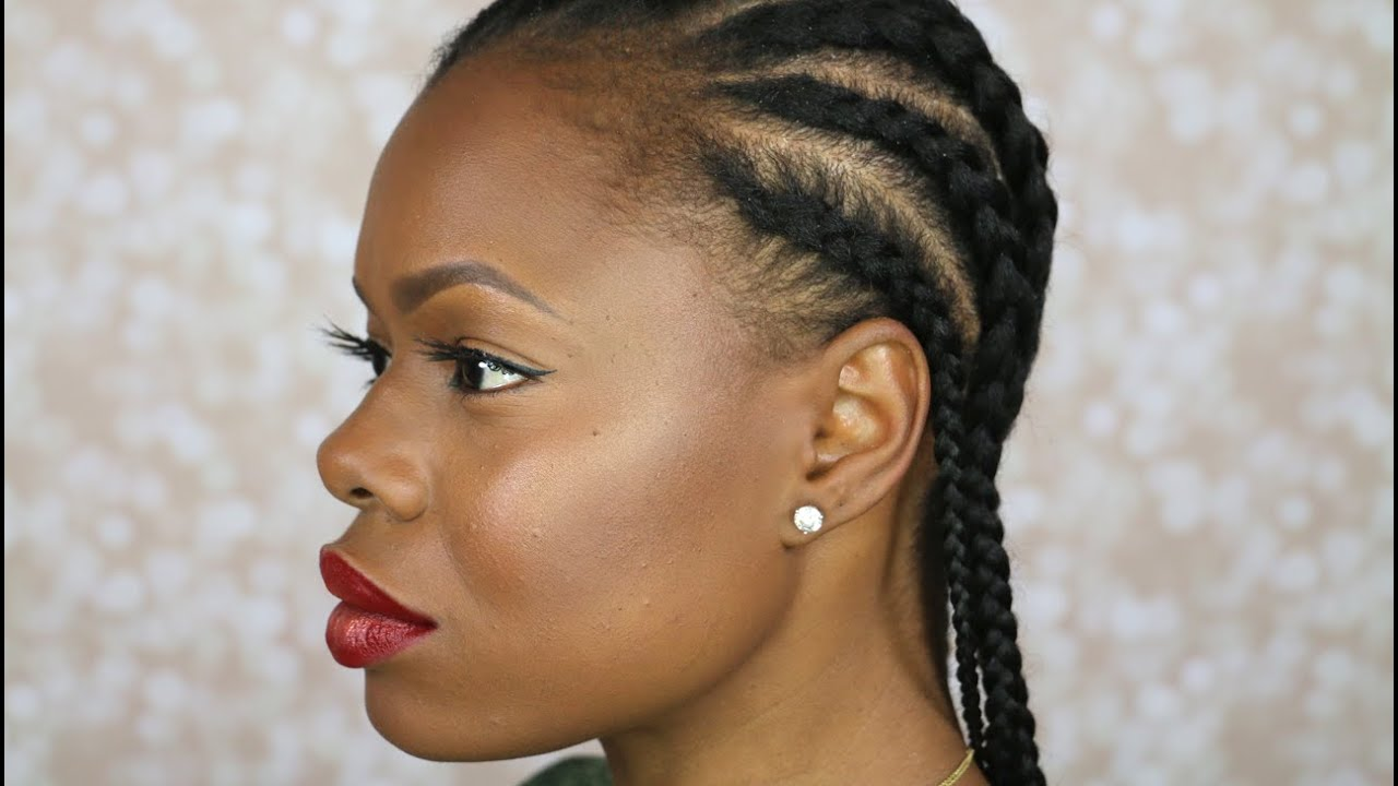 cornrow styles natural black hair how to cornrow your own hair beginner friendly 2436 | maxresdefault