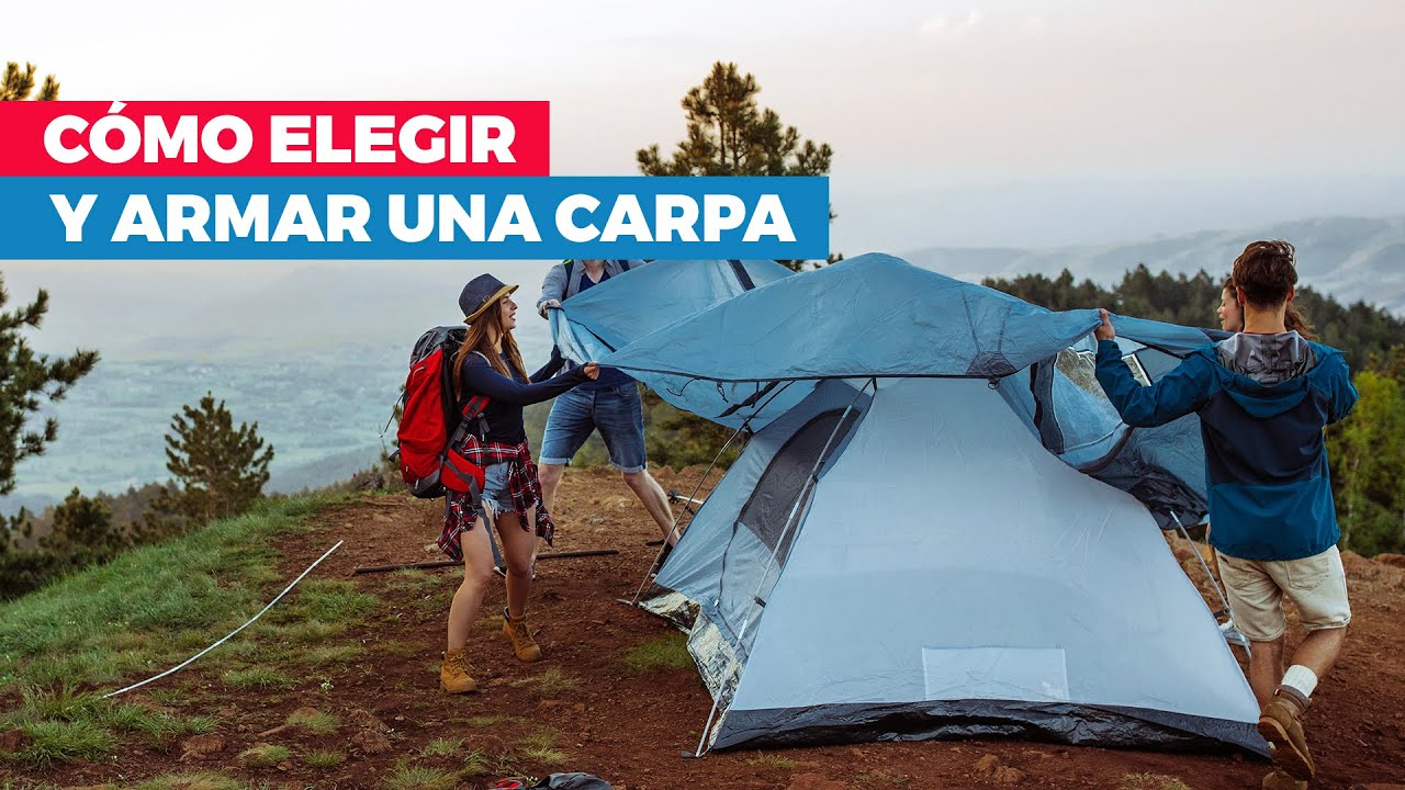 C mo armar una carpa y la zona de camping youtube for Como hacer un criadero de carpas