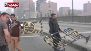 بالفيديو..قوات الأمن تغلق كوبرى «مسطرد» بعد انفجار قنبلة