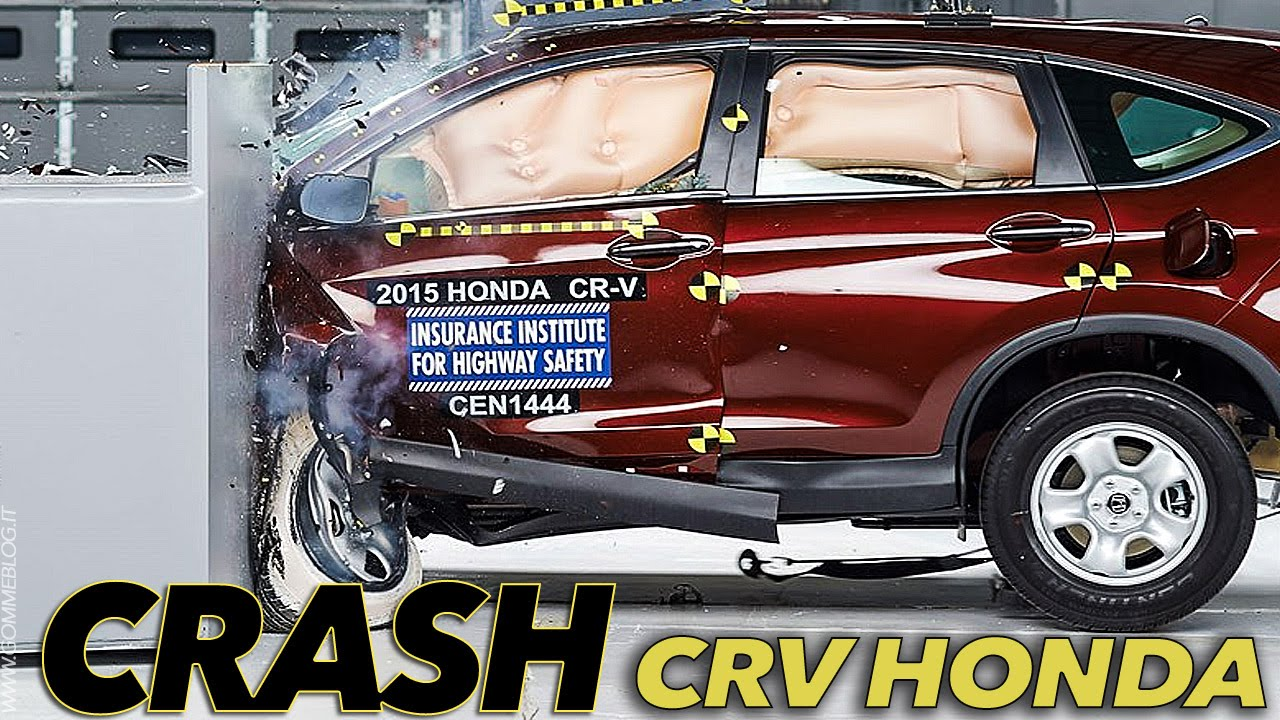 2015 honda cr v crash test iihs small overlap good youtube for Iihs honda crv