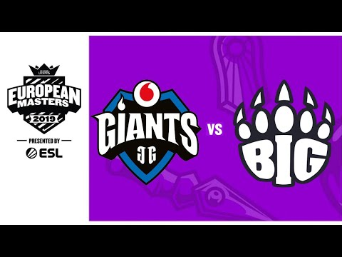 BIG VS GIANTS EU Masters Summer 2019 - Finals - Game 1