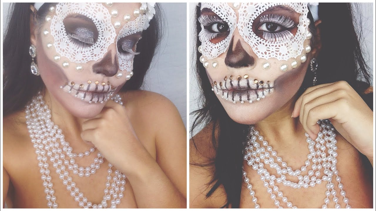 Glamorous Sugar Skull Halloween 2014 Youtube
