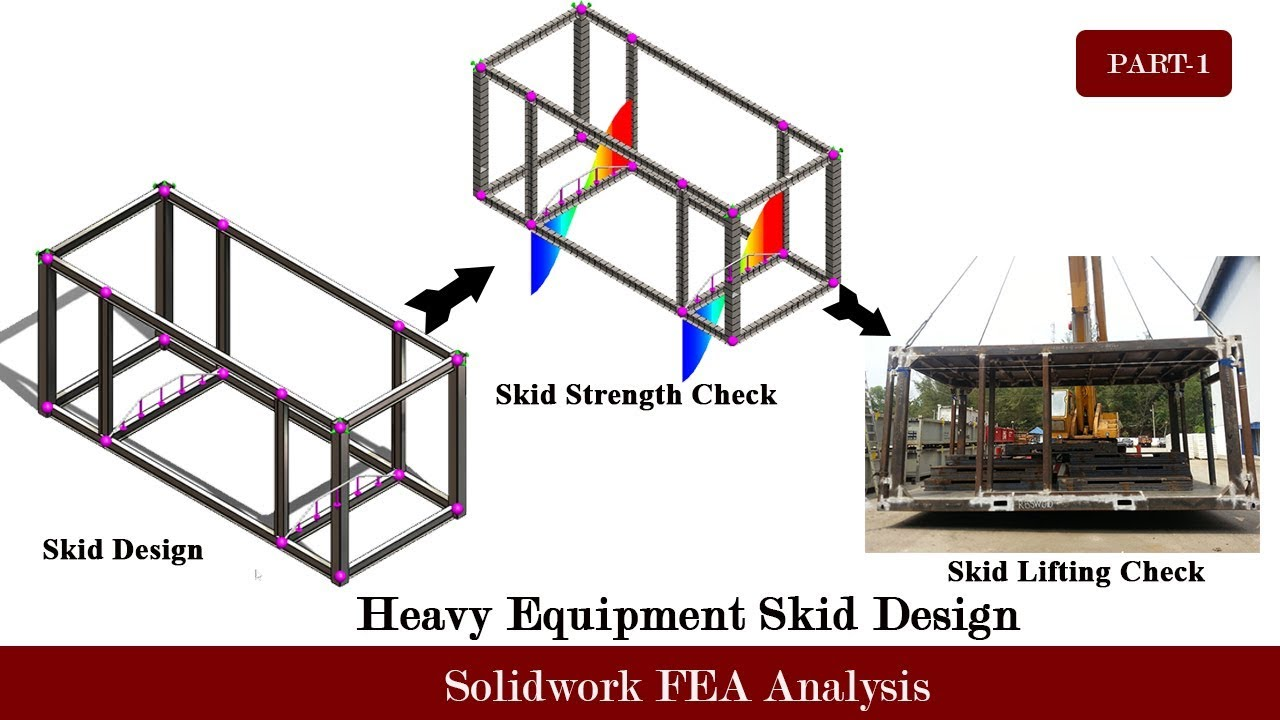 Heavy Equipment Design And Strength Check-Using FEA Simulation(Solidwork  Simulation)