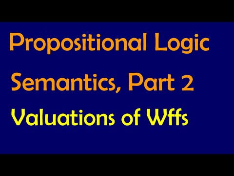 Propositional Logic: Semantics, Part 2