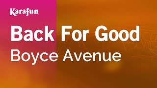 Karaoke Back For Good - Boyce Avenue *