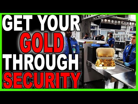 Get Gold & Silver through Airport Security! Airport Customs How to! #Airport #SilverStacking #Travel