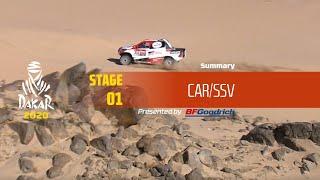 Dakar 2020 - Stage 1 (Jeddah / Al Wajh) - Car/SSV Summary