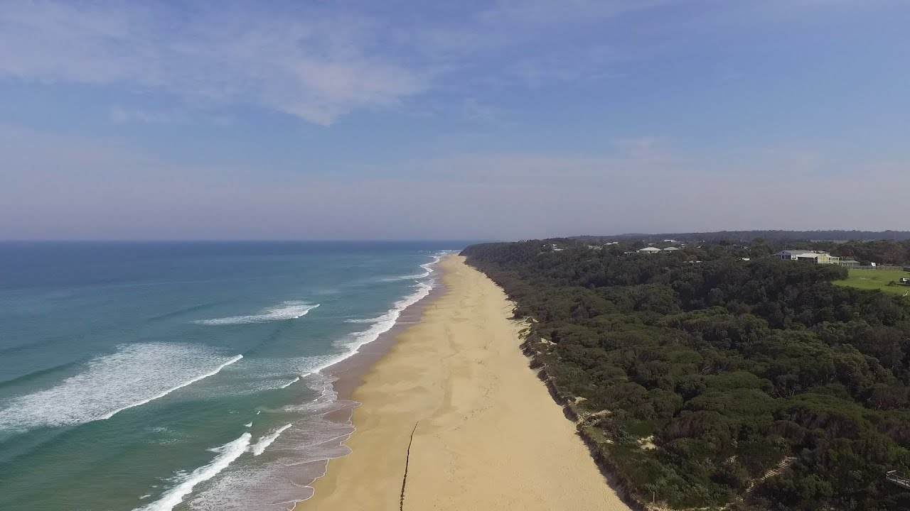 drone view of lake tyers beach in april youtube. Black Bedroom Furniture Sets. Home Design Ideas