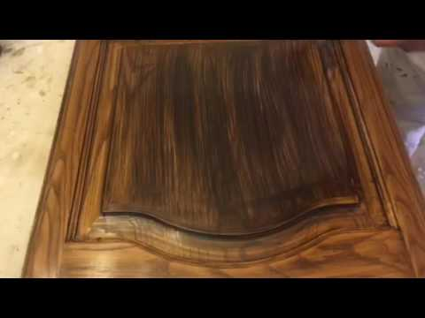 Applying Old Masters Gel Stain Glaze Dark Walnut On