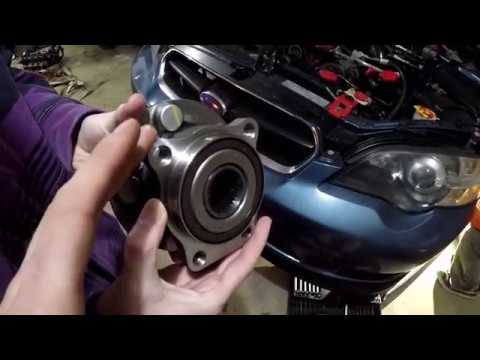 How to replace a bad wheel bearing on your Subaru.