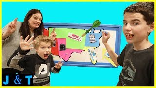 Throwing Darts At A Map And Having To Perform Chores Challenge! / Jake and Ty