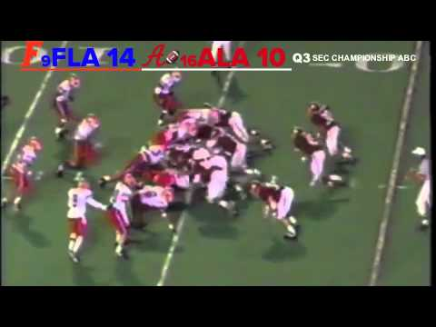 1993 SEC Championship Game: #9 Florida Gators vs. #16 Alabama Crimson Tide