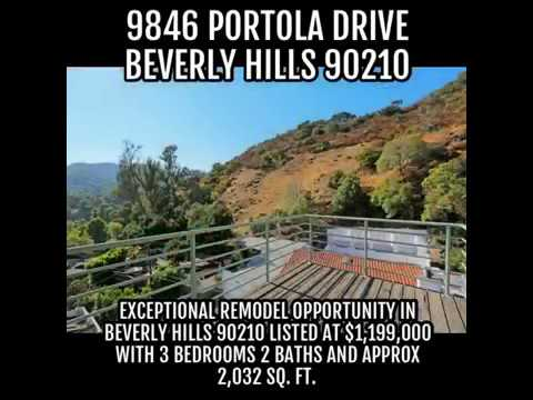 9846 Portola Drive in Beverly Hills 90210. Beverly Hills post office area home for sale $1,175,000