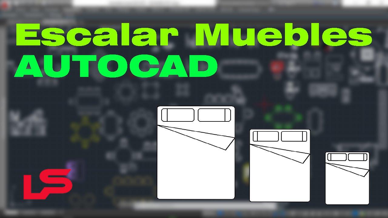 Autocad escalar muebles bloques u objetos doovi for Bloques autocad muebles