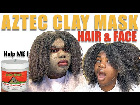 Indian Healing Aztec Clay Mask on Natural Hair & Face: Deep Cleanser