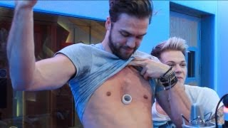 Andy Brown from Lawson shows his chest