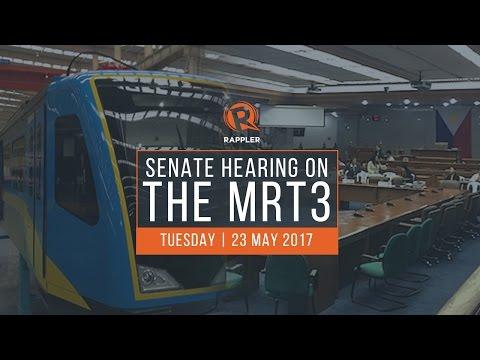 LIVE: Senate hearing on MRT3 issues