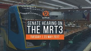 LIVE: Senate hearing on MRT3 issues