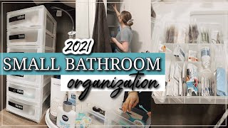 SMALL BATHROOM ORGANIZATION IDËAS 2021 / RENTER FRIENDLY BATHROOM ORGANIZATION IDEAS